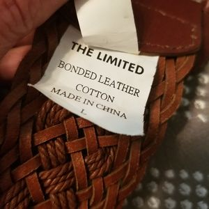 The Limited braided leather belt